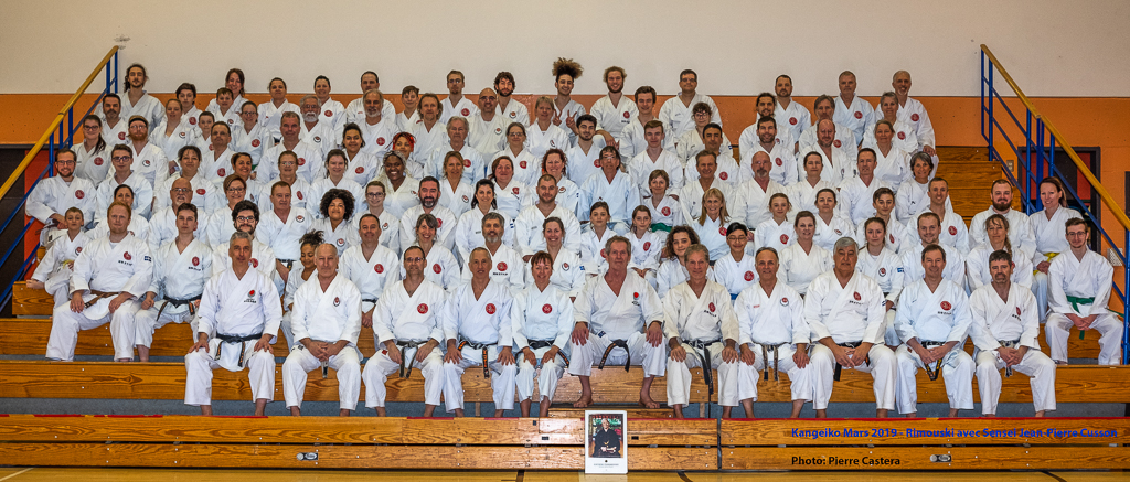 Photo du groupe au Kangeiko de Rimouski
